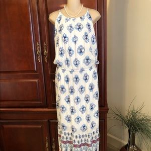 NEW 1X Maurice's partially lined maxi dress.